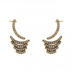 Brinco Hector Albertazzi Caruaru Ear Cuff Ouro Vintage