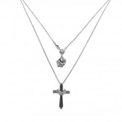 Colar Monica Di Creddo Sacra Crucifixo Prata Vintage
