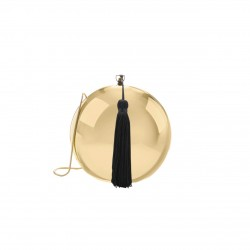 Bolsa Isla Clutch Redonda Metal Dourado