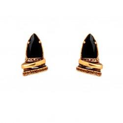Brinco Claudia Arbex Maria Cristais Ouro Vintage