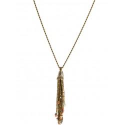 Colar Claudia Arbex Shiraz Franjas Ouro Vintage
