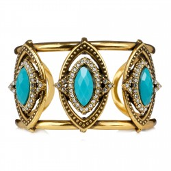 Bracelete Estela Geromini Galdana Vazado Ouro