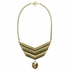 Colar Claudia Arbex Arya Curto Metal Ouro Vintage