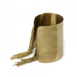 Bracelete Luiza Rogi Franjas Ouro Envelhecido