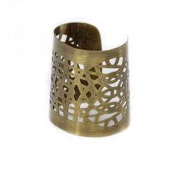 Bracelete Luiza Rogi Vazado Ouro Envelhecido