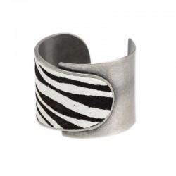 Bracelete Luiza Rogi Zebra Prata Envelhecido