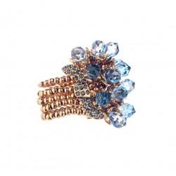 Anel Camila Klein Metamorphose Azul Ouro Velho