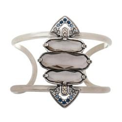 Bracelete Estela Geromini Apus Formas Baguete Prata