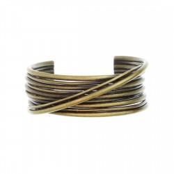 Bracelete Luiza Rogi Fios Metal Ouro Envelhecido