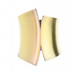 Bracelete Luiza Rogi Metal Assimétrico Ouro Envelhecido