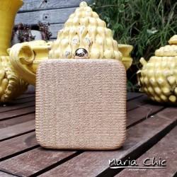 Bolsa Maria Chic Acessórios Clutch Palha Natural