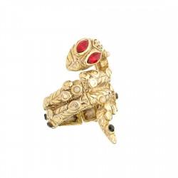 Anel S&B Acessórios Bichos Serpente Metal Dourado