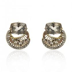 Brinco Claudia Arbex Diana 6512 Ouro Vintage