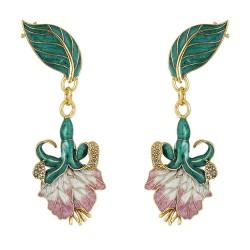 Brinco Nadia Gimenes Fada Rosa Ear cuff Tulipa Dourado