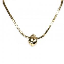 Choker Morena Canela Sagrado Amor Coração de Maria Ouro Vintage