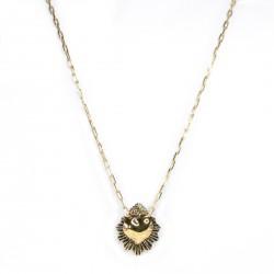 Colar Morena Canela Sagrado Coração I Ouro Vintage