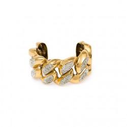 Bracelete Hector Albertazzi À La Garçonne Grume Maxi Strass Ouro Vintage