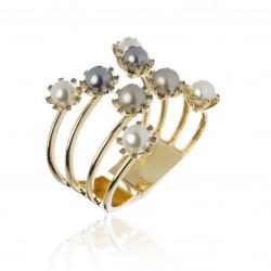 Bracelete Claudia Arbex Eternity Pérolas Ouro Vintage