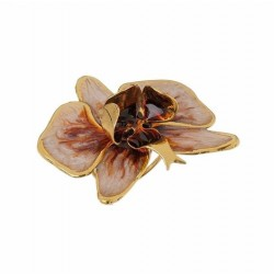 Anel Nadia Gimenes Orquídea Pérola Dourado