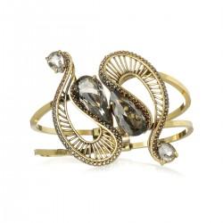 Bracelete Claudia Arbex Diana 6649 Ouro Vintage