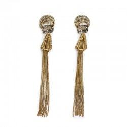 Brinco Claudia Arbex Diana 6550 Ouro Vintage