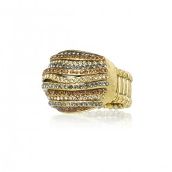 Anel Claudia Arbex Diana 6531 Ouro Vintage