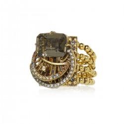 Anel Claudia Arbex Diana 6535 Ouro Vintage