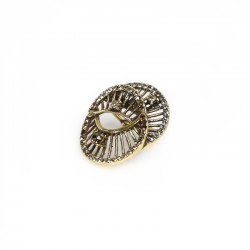 Brinco Claudia Arbex Diana 6520 Ear Cuff Ouro Vintage