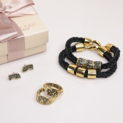 Conjunto kit Camila Klein Dourado