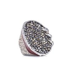 Anel Camila Klein Brotar Conceito Rock The Crown Prata Velho
