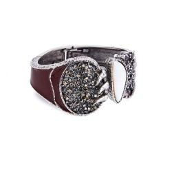 Bracelete Camila Klein Brotar Cristal Rocks The Crown Prata Velho