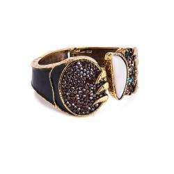 Bracelete Camila Klein Brotar Cristal Rocks The Crown Ouro Velho