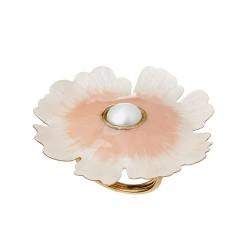 Anel Nadia Gimenes (Re)Nascer Flor de Cerejeira Esmaltado Nude Dourado