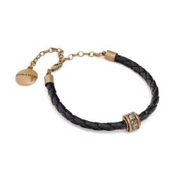 Tornozeleira Camila Klein Anckle Bracelet Couro Ouro Velho