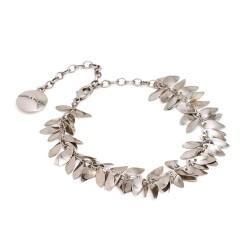 Tornozeleira Camila Klein Anckle Bracelet Folhas Prata Velho
