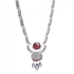Colar Camila Klein Brotar Pedra Natural The Crown Prata Velho
