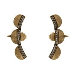 Brinco Hector Albertazzi Corvina Cuff Ouro Vintage