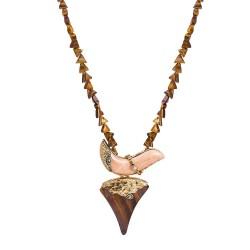 Colar Camila Klein Semear Pedra Natural The Crown Ouro Velho