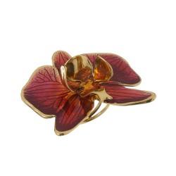 Anel Nadia Gimenes Orquídea Rosa Dourado