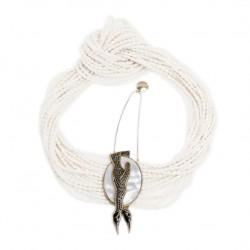 Colar Camila Klein Penguin Conceito Branco Ouro Velho