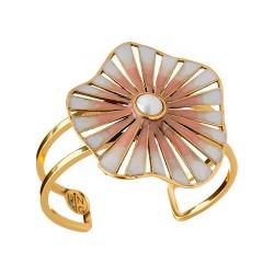 Bracelete Nádia Gimenes (Re)Nascer Aro Duplo Caracol Nude Dourado