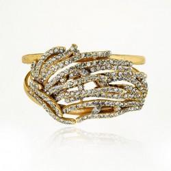 Bracelete Claudia Arbex Liberdade Ouro Vintage