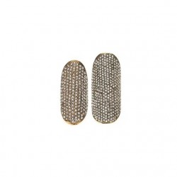 Anel Hector Albertazzi Kit Mel Strass Ouro Vintage