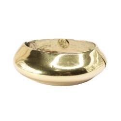 Bracelete Nadia Gimenes Metal e Brilho Mola Metal Dourado