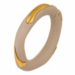 Bracelete Nádia Gimenes Ima Resina Ceramina Dourado