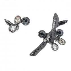 Brinco Camila Klein Kit 2 Ear Cuffs Cristais Atlântida 3 Grafite