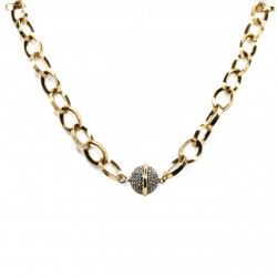 Colar Hector Albertazzi Link Chain Ouro Vintage