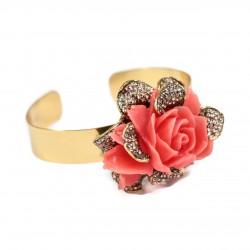 Pulseira T.Arrigoni Rosália Coral Ouro Vintage