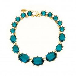 Colar Claudia Arbex Cristal Blue Edition Ouro Vintage