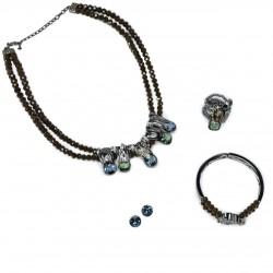 Conjunto Camila Klein Metamorphose Lalique Prata Velho